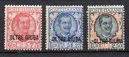 Oltre Giuba 1926 Sovrast.  N. 42 - 44 Serie Completa Nuovi MLH* Sassone 380 Euro - Oltre Giuba
