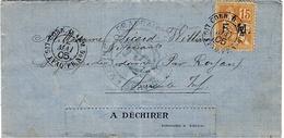"""1905- Lettre D'un Marin à Buenos Aires à Bord Du """"Dupleix """" Affr. F M N°1 Oblit. CORR.D'ARM. LIGNE J PAQ.FR.N°6 - Postmark Collection (Covers)"""