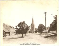"""SART-lez-Spa  ( Grand'Place ) L'Eglise, Le Perron Et La """" Maison Du Marquis """" - Jalhay"""