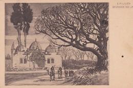 """PALESTINE (Israël)  Brunnen Bei Jaffa  Illust. E.M. LILIEN (""""Erez Israël Und Sein Volk"""") - Palestine"""