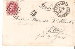 L. TP. N° 34 LP.61/IXELLES (BRUXELLES° 20/7/1872 V/VOLTRI (Italie) SUPERBE. - 1869-1883 Leopold II