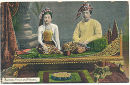 BIRMANIE - Burmese Prince And Princess - D. A. Ahuja, Rangoon - Myanmar (Burma)