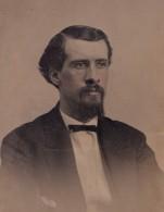 USA? Portrait Homme Barbu Ancien Ferrotype Photo 1880's - Photographs