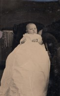 USA ? Portrait De Bebe Ancien Ferrotype Photo 1880's - Oud (voor 1900)