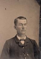 USA ? Portrait Homme Ancien Ferrotype Photo 1880's - Photographs