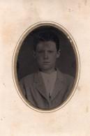USA ? Portrait Jeune Homme Garcon Ancien Ferrotype Photo 1880's - Photographs