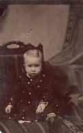 USA ? Portrait De Bebe Garconnet Charlie E. Ford Ancien Ferrotype Photo 1880's - Photographs