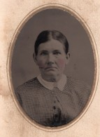 USA ? Portrait Femme Ancien Ferrotype Photo 1880's - Photographs