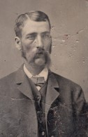 USA ? Portrait Homme Ancien Ferrotype Photo 1880's - Alte (vor 1900)