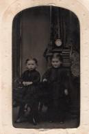 USA Stirling Portrait Enfants Ancien Ferrotype Photo Roy's Gallery 1880's - Photographs