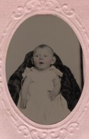 USA ? Portrait Bebe Ancien Ferrotype Photo 1880's - Photographs