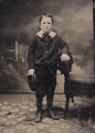 USA ? Portrait Jeune Garcon Ancien Ferrotype Photo 1880's - Photographs