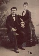 USA ? Portrait Couple Homme Assis Mode Ancien Ferrotype Photo 1880's - Photographs
