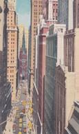 ETATS UNIS ( U.S.A.) NEW YORK City . Wall Street - Wall Street