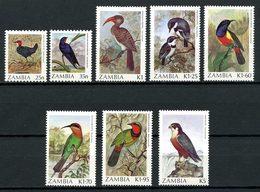 ZAMBIE 1987 N° 376/383 ** Neufs MNH Superbes Cote 22 € Oiseaux Falco Birds Faune Fauna Animaux - Zambia (1965-...)