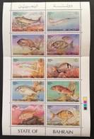 Bahrain 1986 Coastal Fish Sheet Folded - Bahrain (1965-...)