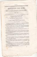 1848 -Original - Bulletin  Des Lois N°65.Décret Relatif à La Taxe Des Lettres Au 01.01.1849.Apparition Du Timbre Poste. - Autres