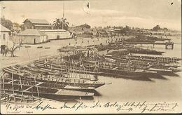 Dahomey    LAGOS  Ebute Ero     CPA 1905  Oblitérations - Dahomey