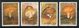 ZAMBIE 1984 N° 313/316 ** Neufs MNH Superbes Flore Champignos Mushrooms Amanites - Zambia (1965-...)