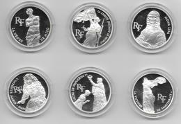 """1993 - A SAISIR : COFFRET De 6 PIECES De 100F """"TRESORS DU LOUVRE"""" QUALITE BE ARGENT NEUVE SOUS CAPSULE AVEC CERTIFICAT - N. 100 Francs"""