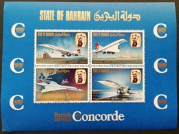 Bahrain 1976 1rst. Commercial Flight Of Supersonic Jet Concorde S/S - Bahrain (1965-...)