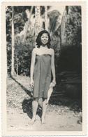 """LAOS - Carte Photo Légendée Au Verso """"Quelque Part Au Laos, 1956"""" - Laos"""