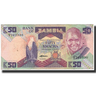Billet, Zambie, 50 Kwacha, 1986, KM:28a, TTB - Zambie