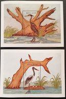 Sierra Leone  1986 Birds  S/S Pair - Sierra Leone (1961-...)