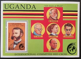Uganda 1988 Intl. Red Cross 125th Anniv. - Uganda (1962-...)