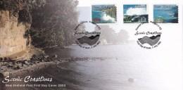 New Zealand 2002 Scenic Coastlines Self-adhesives FDC - FDC