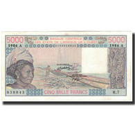 Billet, West African States, 5000 Francs, 1986, KM:108Ao, SUP+ - West African States