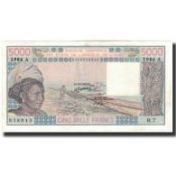 Billet, West African States, 5000 Francs, 1986, KM:108Ao, SUP+ - États D'Afrique De L'Ouest
