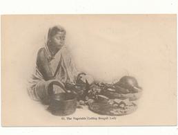 INDE - The Vegetable Cutting Bengali Lady - Art Union, Calcutta - India