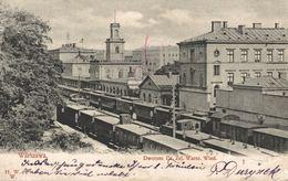 POLSKA - POLAND - WARSZAWA, Dworzec, Dr. Zel. Wrsz. Wied, TRAIN STATION - 1905 - Poland