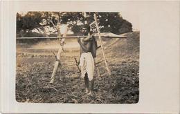CPA Inde India Britannique Anglaise Non Circulé Type Ethnic Carte Photo RPPC Métier - India