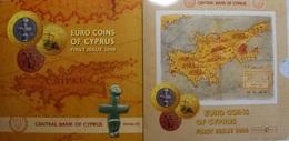 Cyprus Euro Jaarset 2008, 8 Munten: Van 1 Cent Tot 2 Euro, In Mapje - Chypre