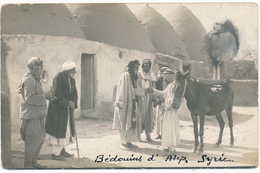 SYRIE - Carte Photo , Bédouins D'Alep - Cachet à Sec, Photographe V. Derounian, Alep - Syrie