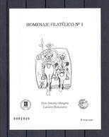 180030385  ESPAÑA  EDIFIL  HOMENAJE  FILATELICO  MINGOTE    Nº  1 - Hojas Conmemorativas
