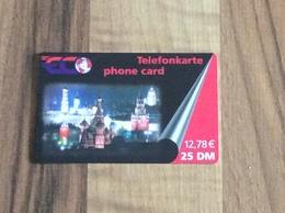 Rarer Prepaid Card  25 DM  ECO Phone Card - Kreml  - Used - [2] Mobile Phones, Refills And Prepaid Cards