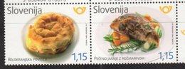 SLOVENIA , 2017, MNH, SLOVENIAN CUISINE, LAMB, MEAT, PIES, ROSEMARY,2v - Food
