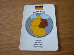Germany Related Frankfurt Old Certalidon Medicine Greek '50s Game Trading Card - Trading Cards