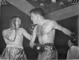 GRANDE PHOTO ORIGINALE  BOXE  COMBAT CHARLES HUMEZ  FORMAT  24 X 18 CM - Boxing