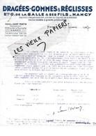 54 - Meurthe-et-moselle - NANCY - Facture DE LA SALLE - Dragées, Gommes, Réglisses - 1947 - REF 90C - France