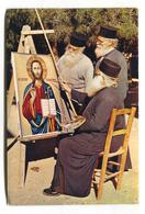 Famagusta, Cyprus - St Barnabas Monastery, Three Fathers & Icon Painters - C1960's J. Arthur Dixon Modern-size Postcard - Cyprus