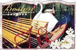 Swanboat At Dock, Boston Public Gardens, Massachusetts, US Unused - Boston