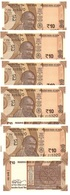India - 5 Pcs X 10 Rupees 2018 UNC Lemberg-Zp - India