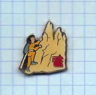 Pin's Pins /  THEME SPORT ALPINISME Escalade   /    Sponsor Banque Écureuil ( Dos Promos Plus ) - Alpinisme