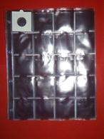 Paquet 50 FEUILLES TRANSPARENTES (FORMAT A4) POUR PIÈCES - 20 CASES NEUF - Matériel