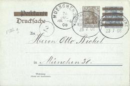Allemagne Deutsches Reich Entier Postal, Ganzsachen Carte Postale Postkarte Imprimé Repiqué - Postwaardestukken