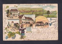 Gruss Aus Wangen (67) Poste Marlenheim Multivues Chromo Lithographie - Other Municipalities